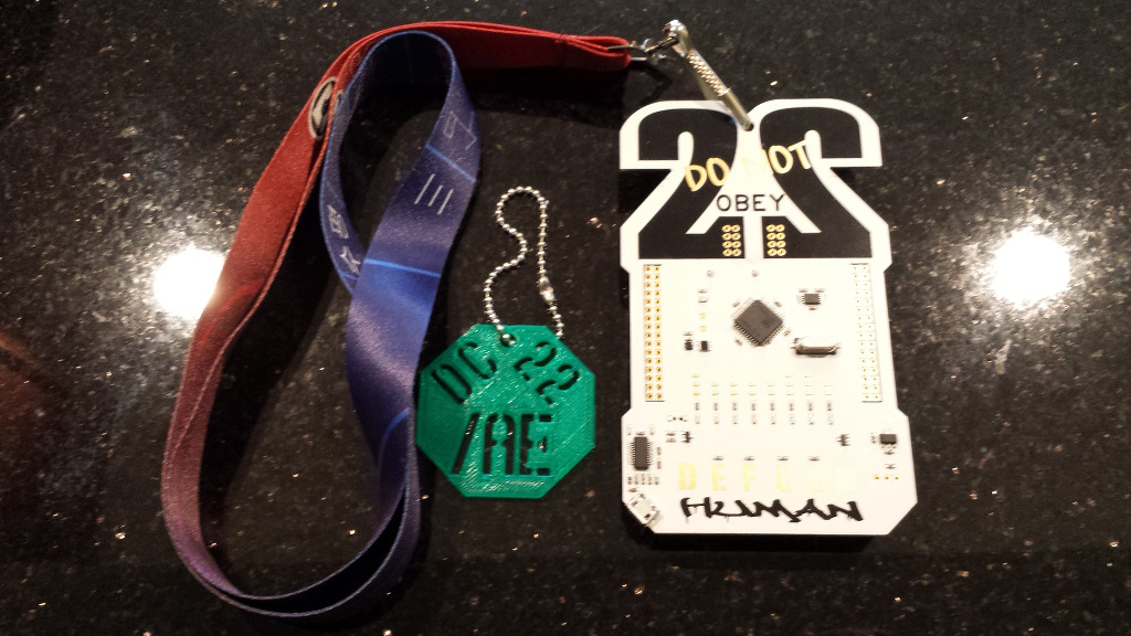 Defcon 22 badge and /AE token